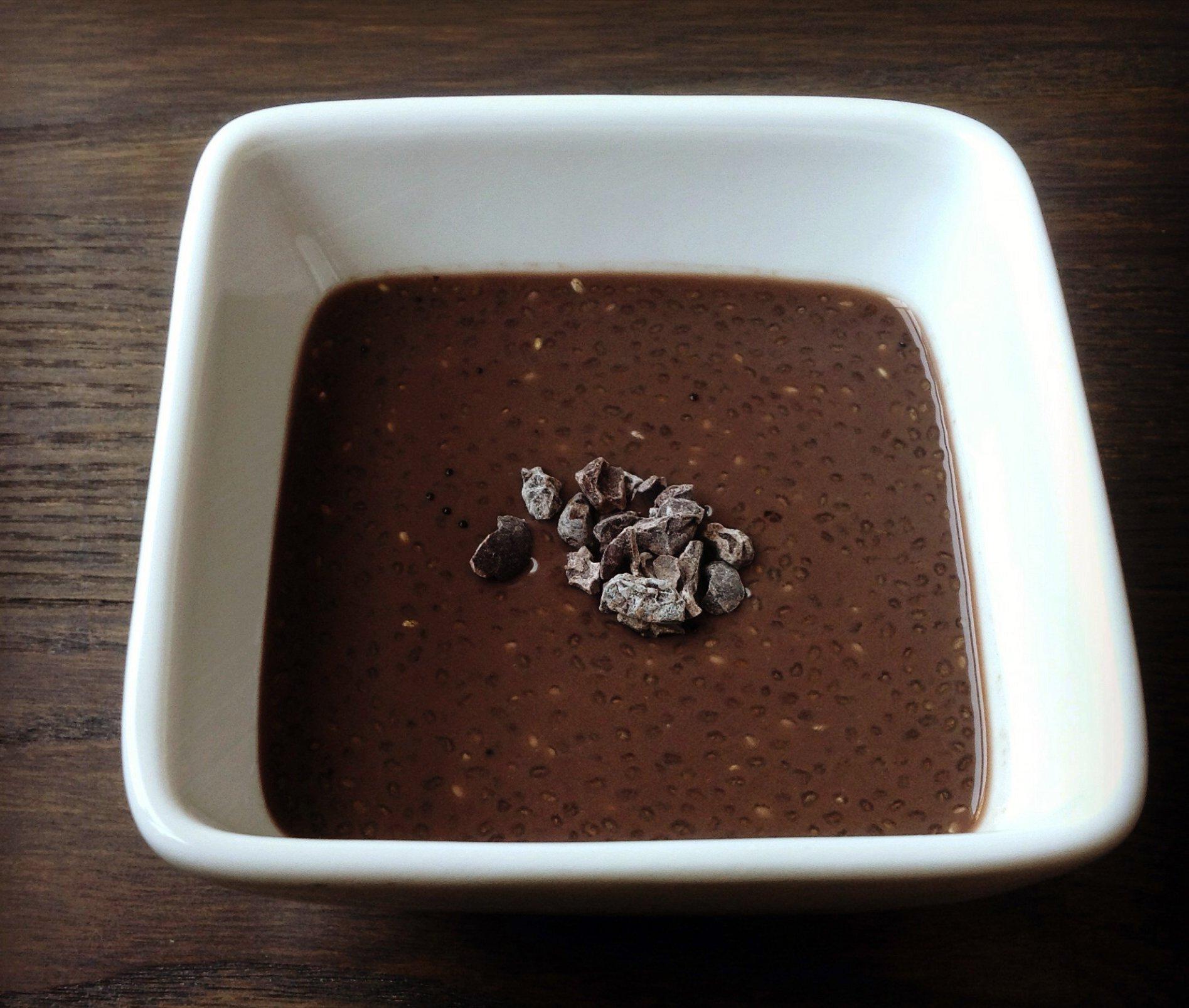 Pouding au chia et chocolat