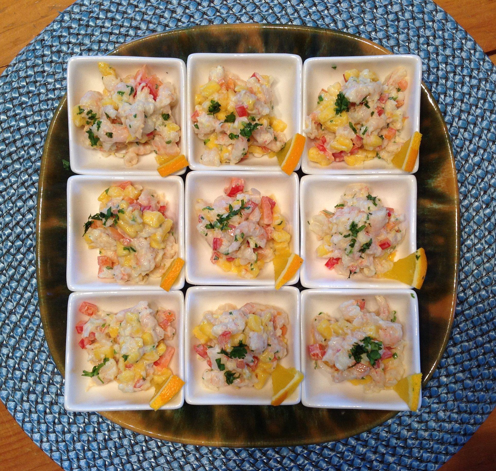 salade de crevette et mangue